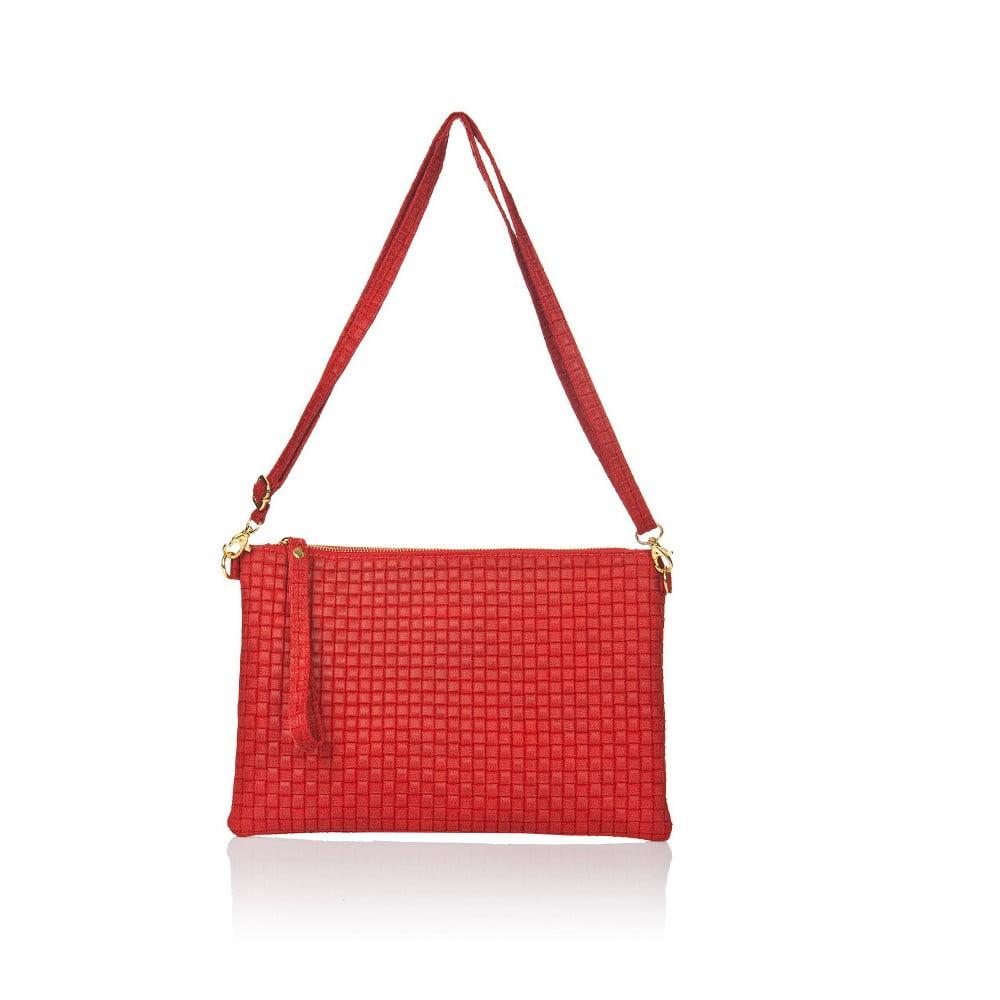 Červená kožená kabelka Markese Hurton