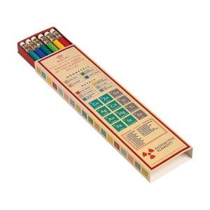 Creioane colorate în cutie de hârtie Rex London Periodic Table