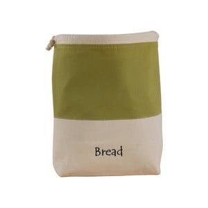 Zeleno-bílý bavlněný vak na chléb Furniteam Bread