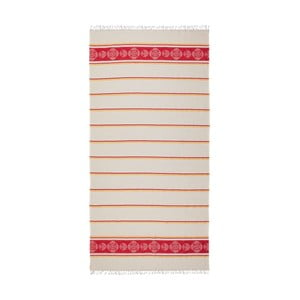 Červenobéžová hammam osuška Deco Bianca Loincloth Ryem Red, 80x170cm