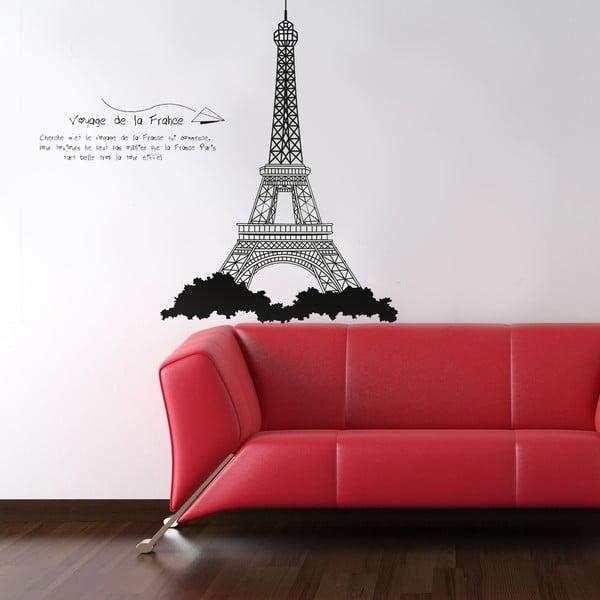 Samolepka na stěnu Eiffelova věž, 60x90 cm