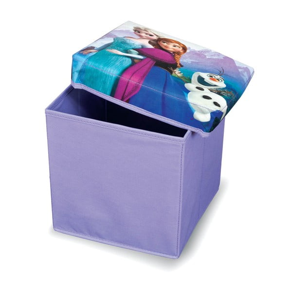 Taburet cu spațiu depozitare Domopak Living Frozen, lungime 30 cm, violet