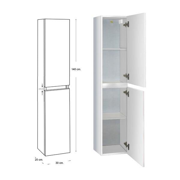 Koupelnová závěsná skříňka Column, odstín bílé