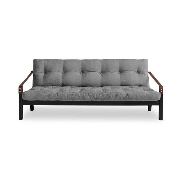 Sofa rozkładana z szarym obiciem Karup Design Poetry Black/Granite Grey