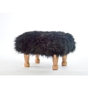 Stolička z ovčí kůže Angharad Coal Black