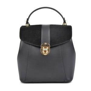 Černý kožený batoh Isabella Rhea Milesso