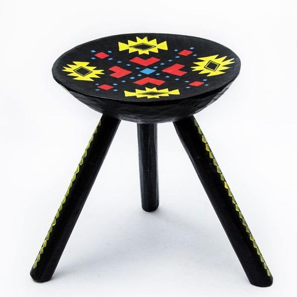 Ručně malovaná stolička Ludos, 38 cm