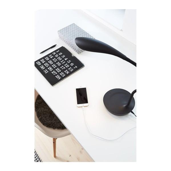 Černá stolní lampička s USB portem Markslöjd Swan