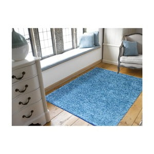 Covor Webtappeti  Shaggy, 60 x 100 cm, albastru
