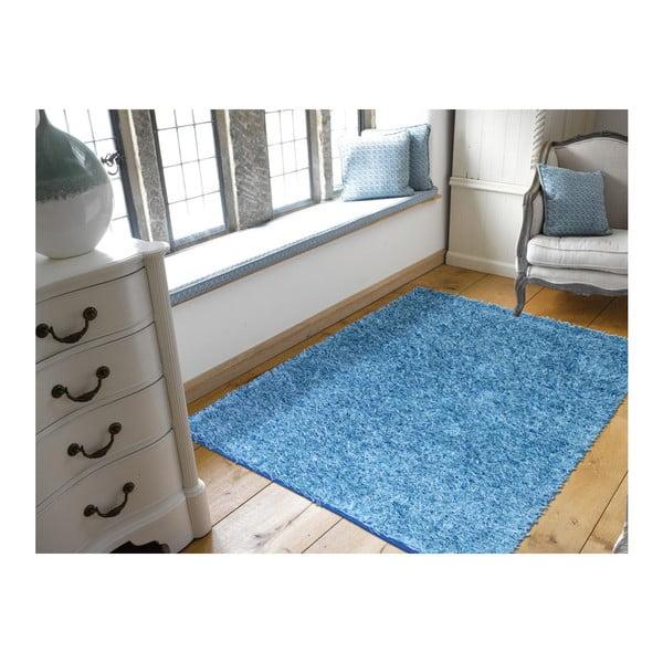Modrý koberec Webtappeti Shaggy, 60x100cm