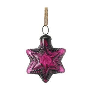 Ornament Crăciun Parlane Star, violet închis