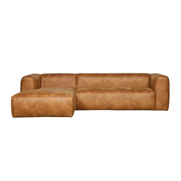 Bean bal oldali barna sarokkanapé, újrahasznosított bőrből - WOOOD