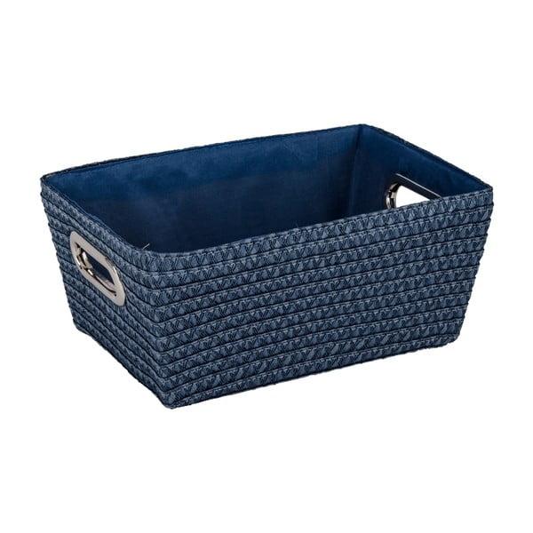 Modrý košík Wenko Chromo, šírka 28 cm