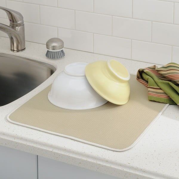 Béžová podložka na umyté nádobí InterDesign iDry, 46x41cm
