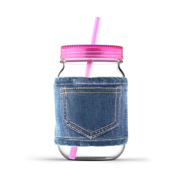 Sklenice Jeans Pink