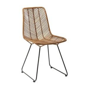 Hnědá jídelní židle Kare Design Ko Lanta