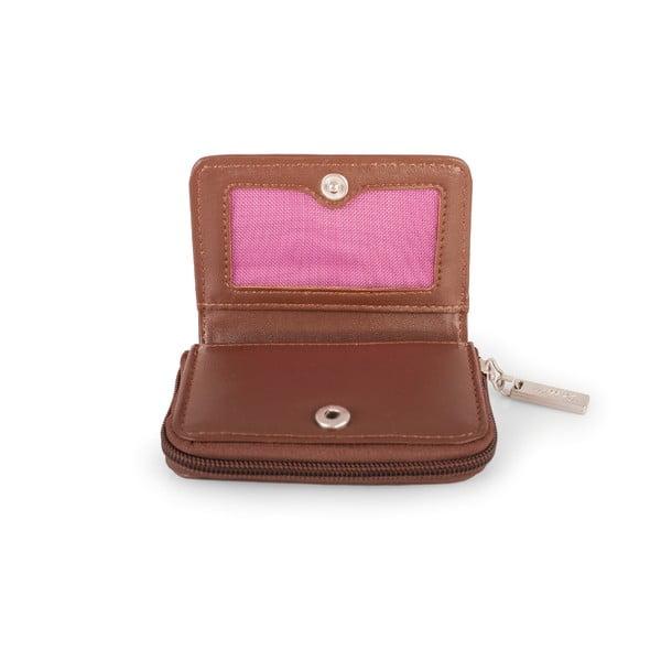 Bílo-růžová peněženka na mince SKPA-T, 10 x 7 cm