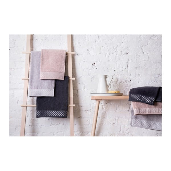 Set světle růžové osušky a ručníku z bavlny Maison Carezza Lazio