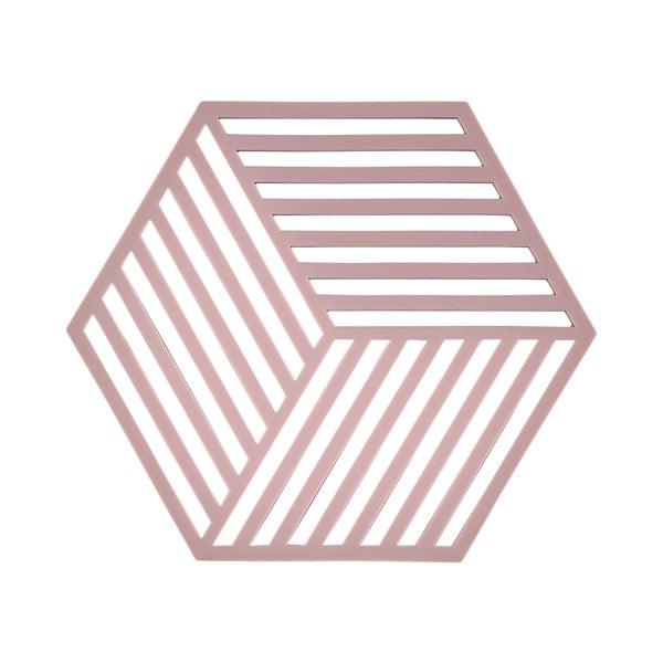 Podložka pod horké Hexagon, starorůžová