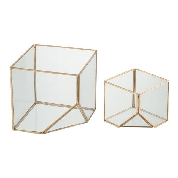 Sada 2 svícnů Cube, výška 10 a 16 cm