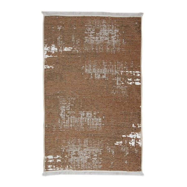 Hnědý oboustranný běhoun Cream Texture, 80 x 300 cm