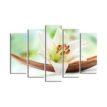 Tablou din mai multe piese Lily, 105 x 70 cm