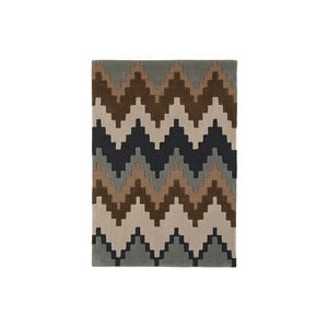 Vlněný koberec Matrix Cuzo Chocolate, 80x150 cm