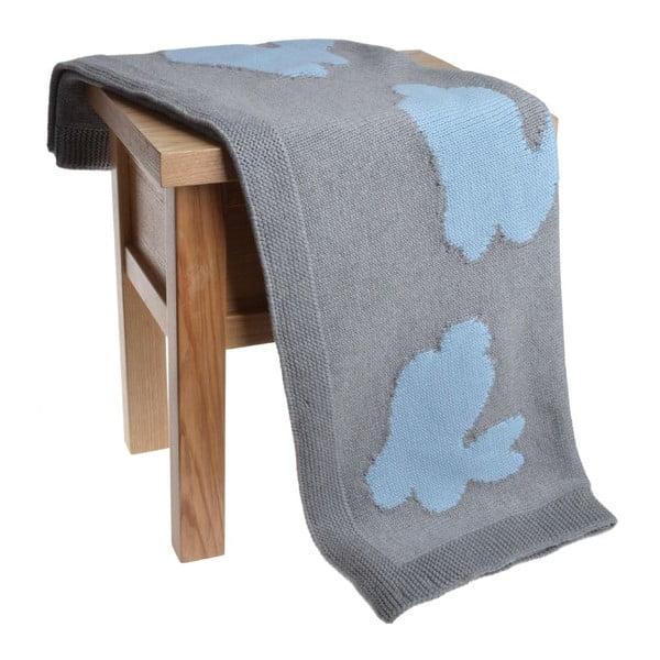 Dětská deka Ewax Rabbit Blue, 80 x 100 cm