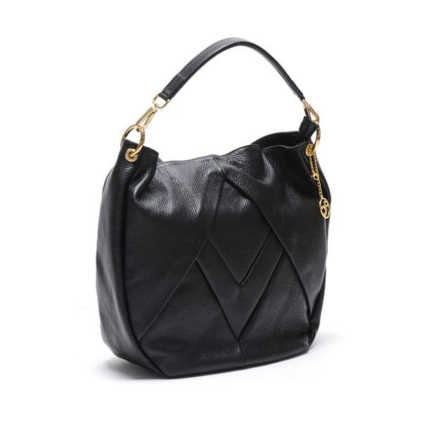 Kožená kabelka Fila, černá