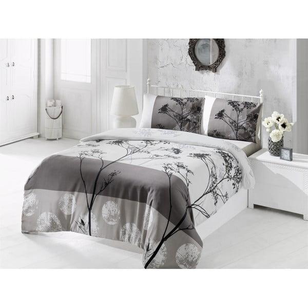 Sivé obliečky a plachta na dvojlôžko Blezza, 200×220 cm