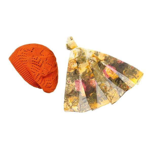 Čepice se šátkem Orange and Yellow