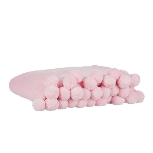 Pléd Pom-Pom Pink, 130x170 cm