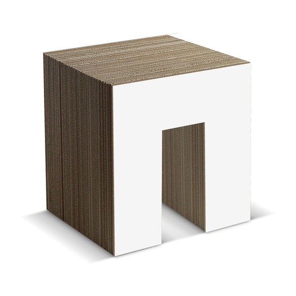 Kartonová stolička Panca White
