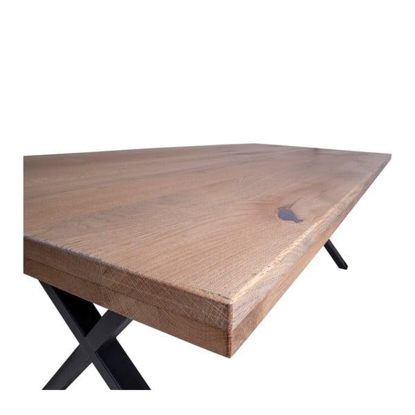 Jídelní stůl z dubového dřeva House Nordic Montpellier Smoked Oiled Oak, 200x95cm
