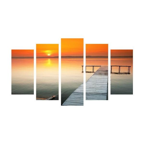 5dílný obraz Ocean Walk, 60x100 cm