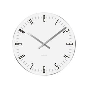Ceas de perete Present Time Slim, alb