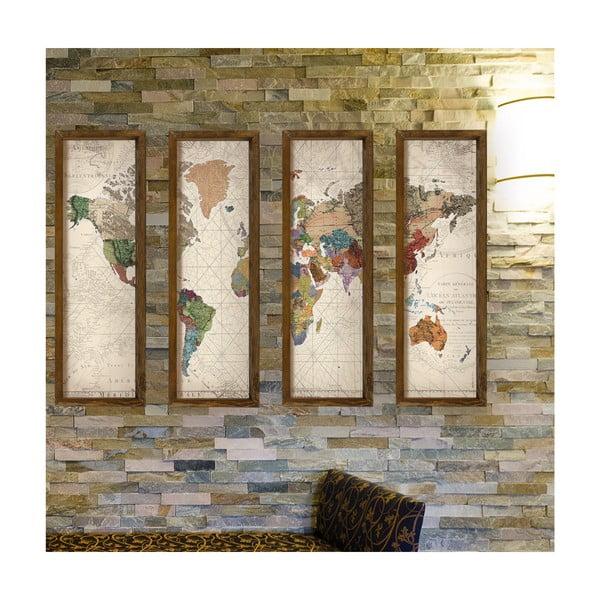 World többrészes kép, 19x70 cm