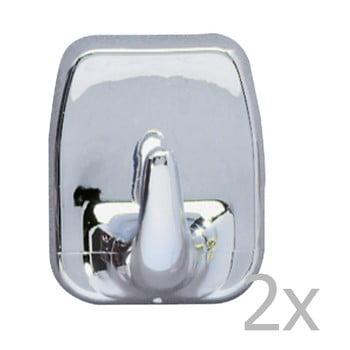 Set 2 cârlige de perete Wenko Universal Hooks Chrome de la Wenko