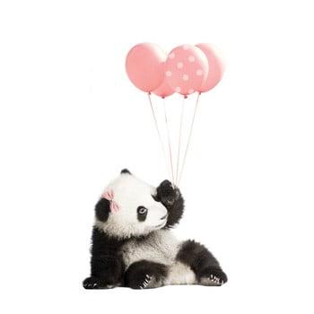 Autocolant pentru perete Dekornik Pink Panda, 55 x 92 cm imagine