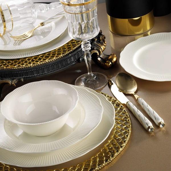 24dílná sada talířů z porcelánu Kutahya Golden Era