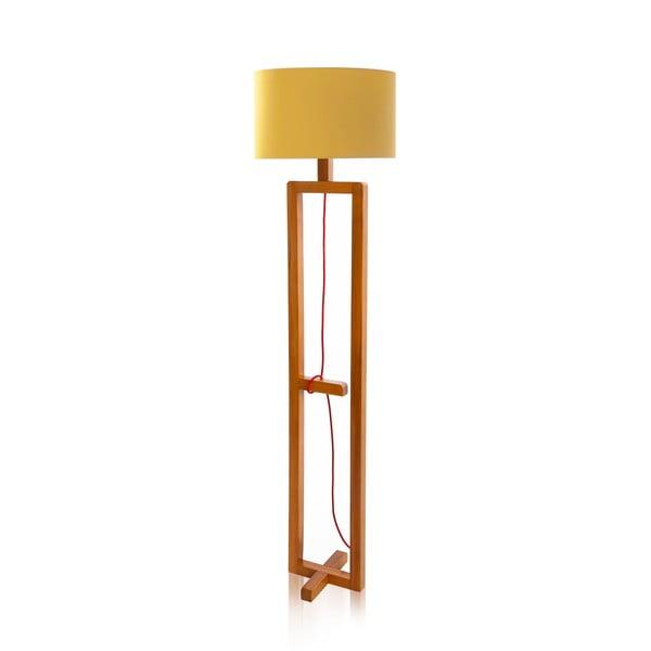Stojací lampa Dal Yellow Walnut