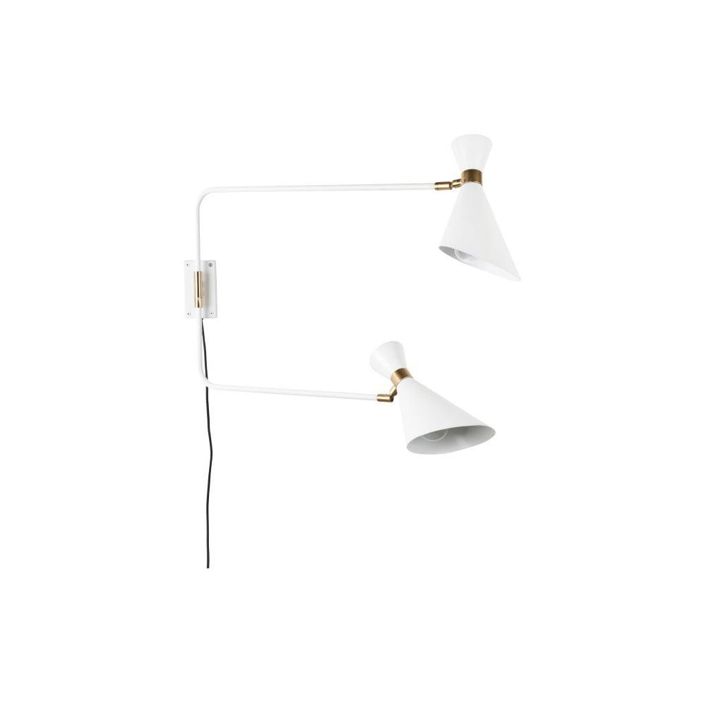 Bílá nástěnná lampa Zuiver Shady Double