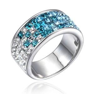 Prsten s bílými a modrými krystaly Swarovski Elements Crystals Abby, vel.6