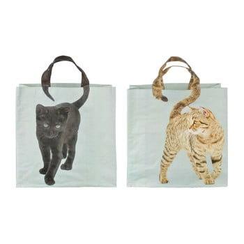 Set 2 sacoșe Esschert Design Cat imagine