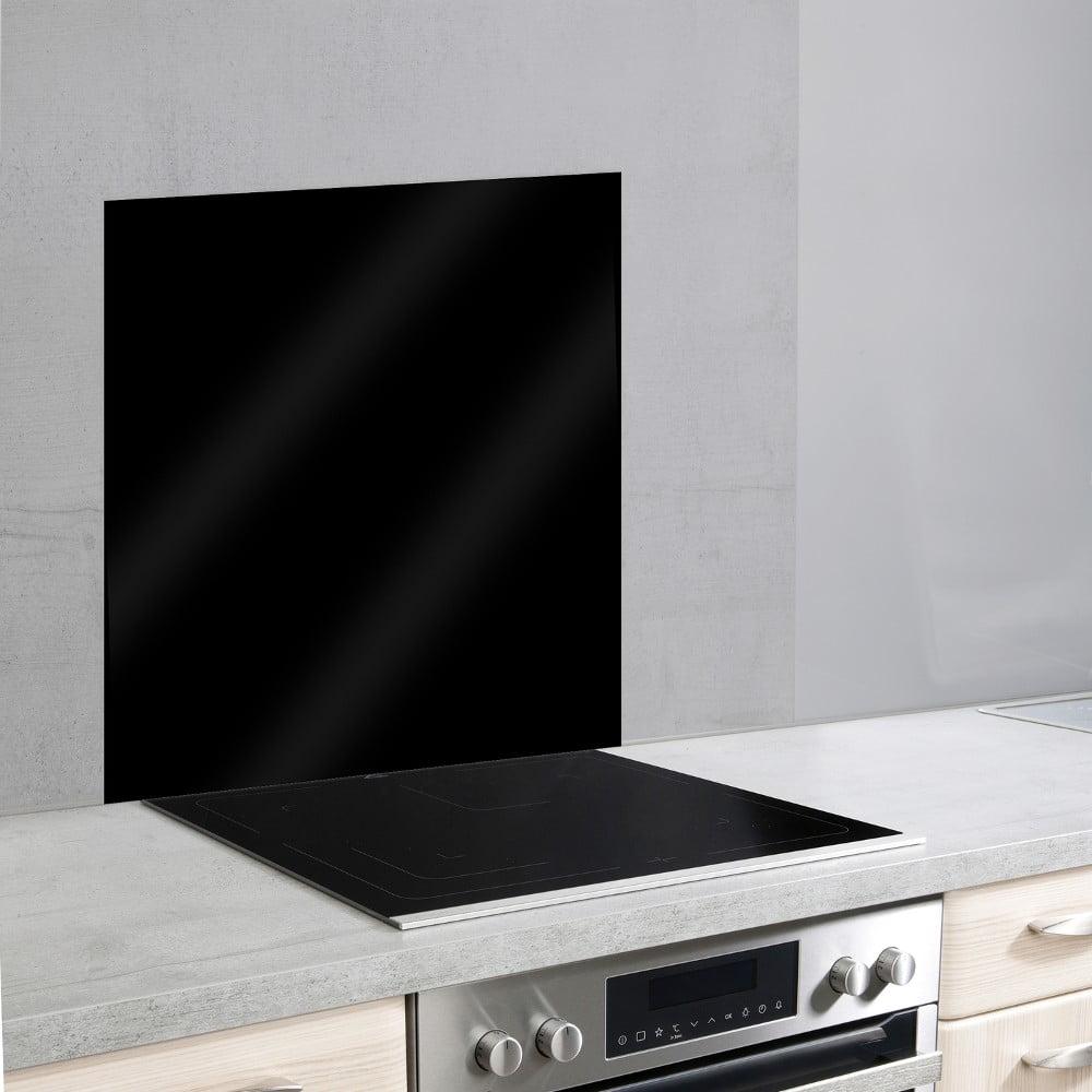 Černý skleněný kryt na zeď u sporáku Wenko, 70 x 60 cm