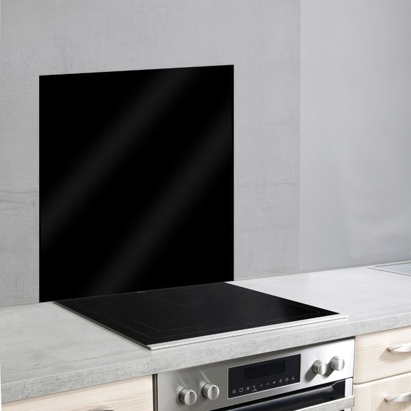 Čierny sklenený kryt na stenu pri sporáku Wenko, 70×60 cm