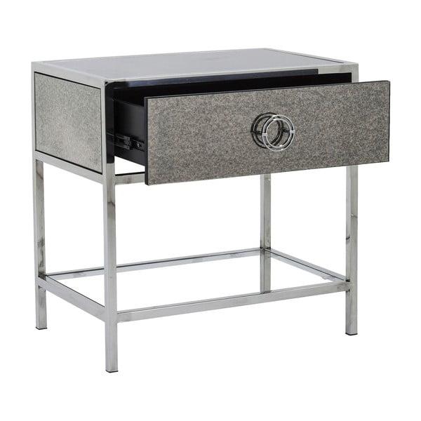 Odkládací stolek ve stříbrné barvě Kare Design Moonscape