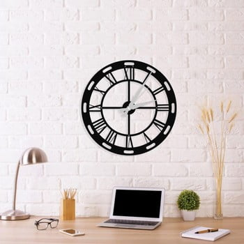 Ceas de perete Roman Clock, 48 x 50 cm, negru imagine