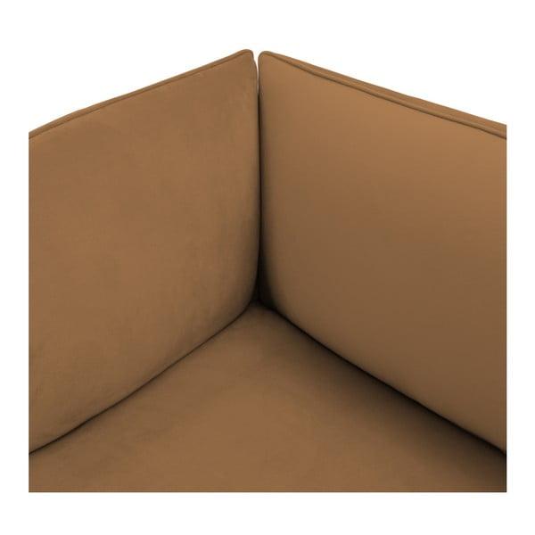Hnědá třímístná modulová pohovka Vivonita Velvet Cube