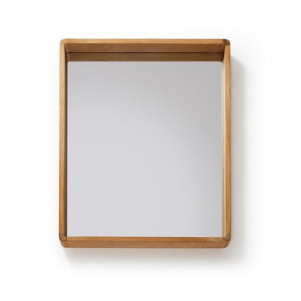 Zrcadlo z teakového dřeva La Forma Sunday, 80x65cm